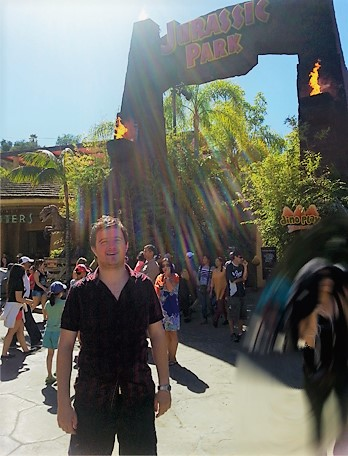 Wet After Jurassic Park Ride 🙂  |  Universal Studios, Hollywood, CA