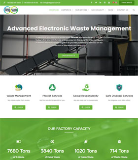 Recycling Company Corporate Web Site (Freelance Project)